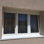 Finestre in PVC bianco effetto legno
