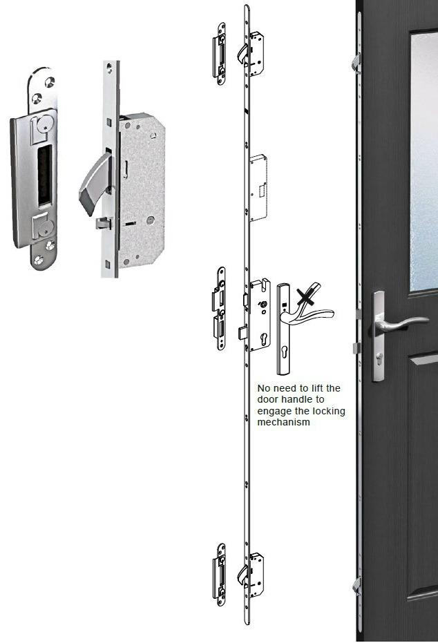 Serrature per porte d 39 ingresso in pvc e alluminio - Maniglie porte ingresso ...