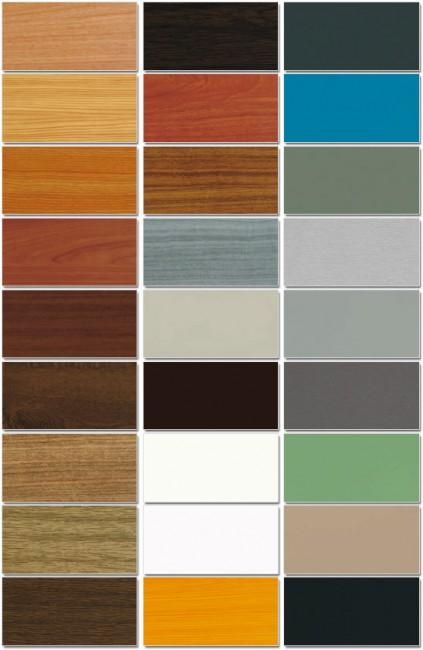 Essenze e colori per rivestimento serramenti in PVC
